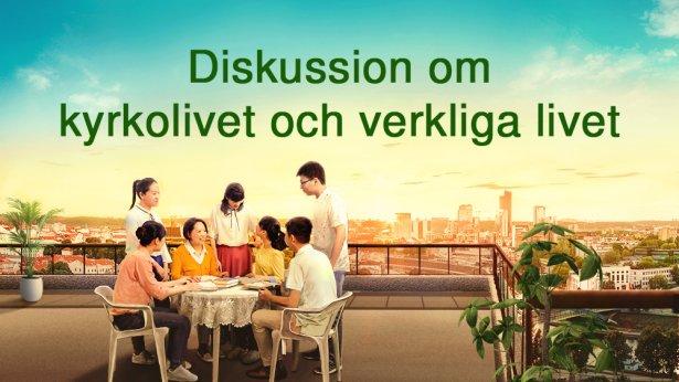 Diskussion om kyrkolivet och verkliga livet