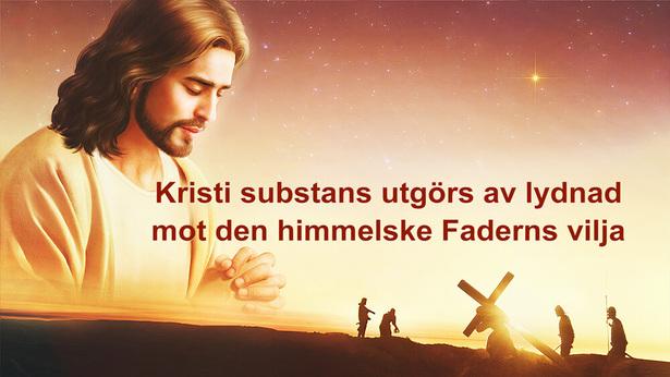 Kristi substans utgörs av lydnad mot den himmelske Faderns vilja